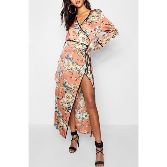 ASOS Dresses & Skirts - NWT floral print kimono wrap dress